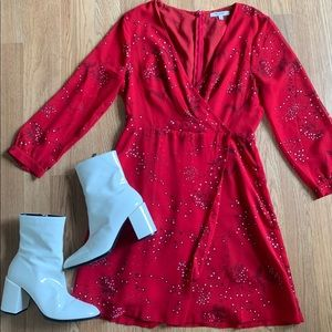 Madewell Wrap Front Mini Dress